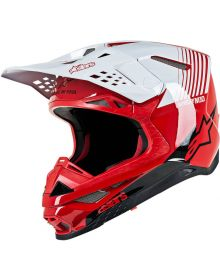 Alpinestars S-M10 Supertech Helmet Dyno Red/White