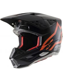 Alpinestars SM5 Compass Helmet Matte Black/Fluo Orange