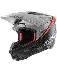 Alpinestars SM5 Rover Helmet Matte Black/White/Flourescent Orange