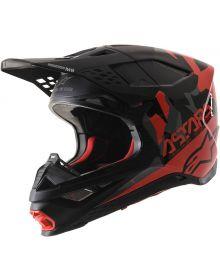 Alpinestars M-8 Helmet Black/Fluo Red/Gray