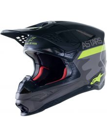 Alpinestars S-M10 AMS21 LE Helmet Gray/Yellow/Black