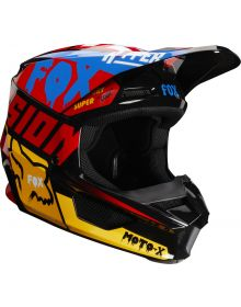 Fox Racing 2019 V1 Helmet CZAR Blue/Yellow