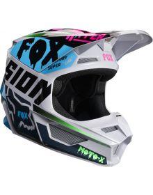 Fox Racing 2019 V1 Helmet CZAR Light Grey