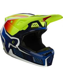 Fox Racing V3 RS Wired Helmet Flo Yellow