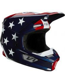 Fox Racing V1 Ultra Helmet White/Red/Blue
