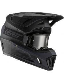 Leatt Moto 7.5 V21.1 Helmet Kit Black (DOT+ECE) includes 4.5 Velocity Black Gogg