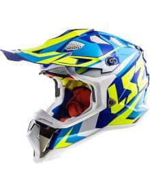 LS2 Helmets Subverter Helmet Nimble White/Blue/Hi-Vis