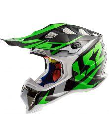 LS2 Helmets Subverter Helmet Nimble Black/White/Green