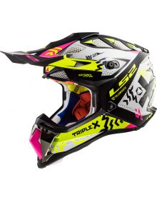 LS2 Helmets Subverter Helmet Triplex Black/Pink/Hi-Vis