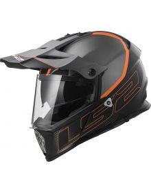 LS2 Helmets Pioneer V2 Adventure Helmet Element Grey/Orange