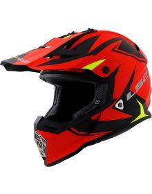 LS2 Helmets Fast V2 Two Face Helmet Matte Red/Hi-Vis