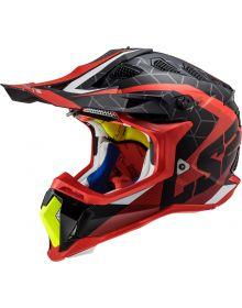 LS2 Subverter Straight Helmet Matte Red/Black/Hi Vis