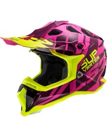 LS2 Subverter Troop Helmet Purple/Hi Vis