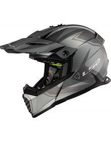 LS2 Gate Two Face Helmet Matte Gray/Black
