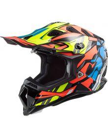 LS2 Subverter EVO Rascal Helmet Black/Fluo Orange/Blue