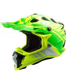 LS2 Subverter EVO Gammax Helmet Hi Viz Yellow/Green