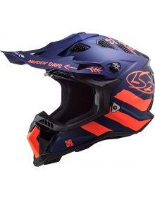 LS2 Subverter EVO Cargo Helmet Matte Blue/Fluorescent Orange
