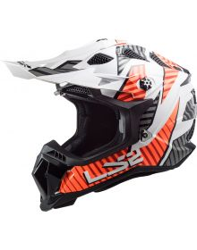 LS2 Subverter EVO Astro Helmet White/Orange