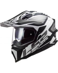 LS2 Explorer Alter Helmet Matte Black/White