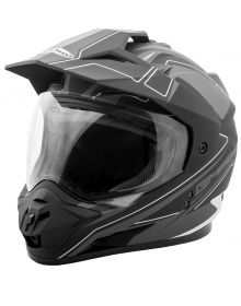 Gmax GM11 Expedition Helmet Flat Black/Dark Silver