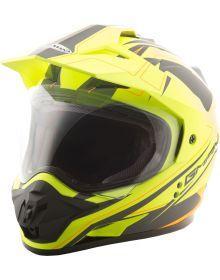 Gmax GM11 Expedition Helmet Flat Hi-Vis Yellow/Black