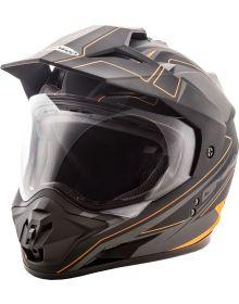 Gmax GM11 Expedition Helmet Flat Black/Hi-Vis Orange