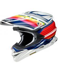 Shoei VFX EVO Pinnacle Helmet Red/Dark Blue/White