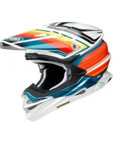 Shoei VFX EVO Pinnacle Helmet Red/Blue/Orange
