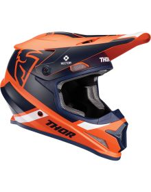 Thor 2020 Sector Split Helmet Orange/Navy