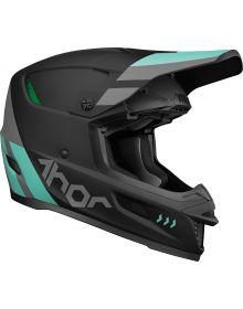 Thor 2022 Reflex Cube Helmet Black/Mint