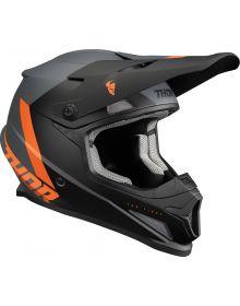 Thor 2022 Sector Chev Helmet Charcoal/Orange