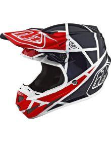 Troy Lee Designs SE4 Composite Helmet Metric Red/Navy