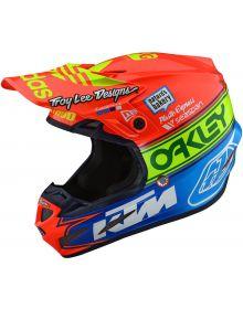 Troy Lee Designs 2019.1 SE4 Composite Helmet Team 2 Orange/Blue