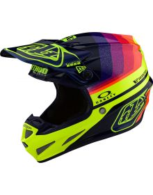 Troy Lee Designs SE4 Carbon Limited Edition Helmet Mirage Navy/Flo Yellow
