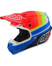 Troy Lee Designs SE4 Composite Helmet Mirage Blue/Red