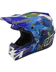 Troy Lee Designs SE4 Composite Helmet Malcolm Smith Blue