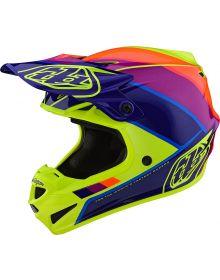 Troy Lee Designs SE4 Polyacrylite Helmet Beta Yellow/Purple