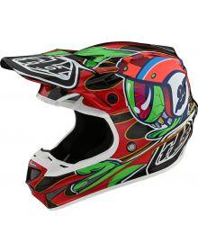 Troy Lee Designs SE4 Carbon Helmet Eyeball Black/Red