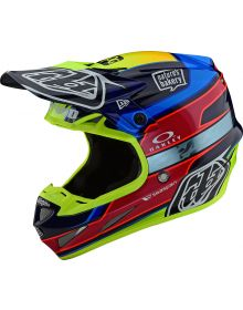 Troy Lee Designs SE4 Carbon Helmet Speed Team Blue/Yellow