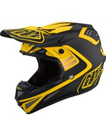 Troy Lee Designs SE4 Carbon Helmet Flash Black/Yellow