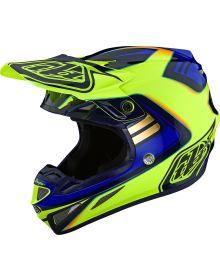 Troy Lee Designs SE4 Composite Helmet Flash Yellow/Blue