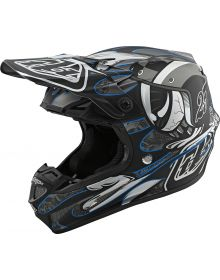 Troy Lee Designs SE4 Composite Helmet Eyeball Black/Silver