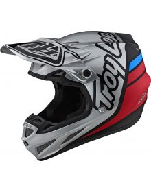 Troy Lee Designs SE4 Composite Helmet Silhouette Silver/Black