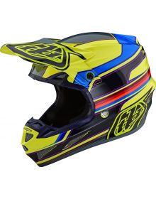 Troy Lee Designs SE4 Composite Helmet Speed Yellow/Gray