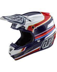 Troy Lee Designs SE4 Composite Helmet Speed White/Red