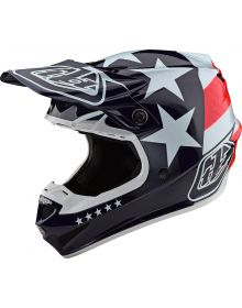 Troy Lee Designs SE4 Polyacrylite Helmet Freedom Red/White