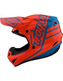 Troy Lee Designs GP Youth Helmet Silhouette Orange/Cyan