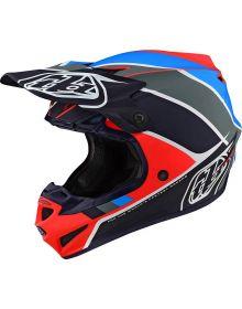 Troy Lee Designs SE4 Polyacrylite Youth Helmet Beta Orange/Navy