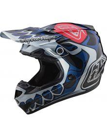 Troy Lee Designs SE4 Polyacrylite Youth Helmet Skully Silver