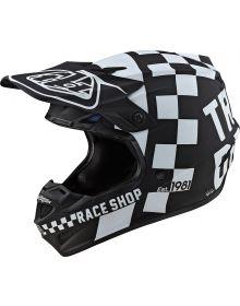 Troy Lee Designs SE4 Polyacrylite Youth Helmet Checker Black/White